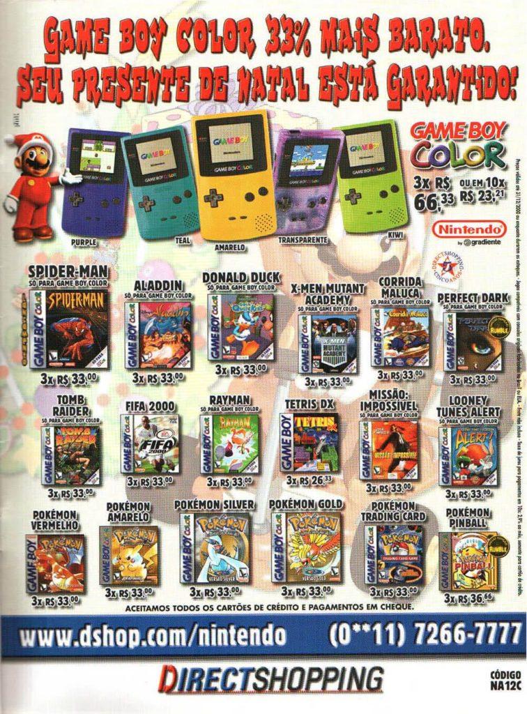 Propaganda antiga de videogame - Direct Shopping 2000