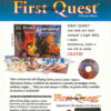 Propaganda antiga de videogame - First Quest 1995