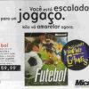 Propaganda antiga de videogame - Microsoft Futebol 1996