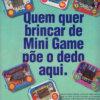 Propaganda antiga de videogame - Mini Games TecToy 1994