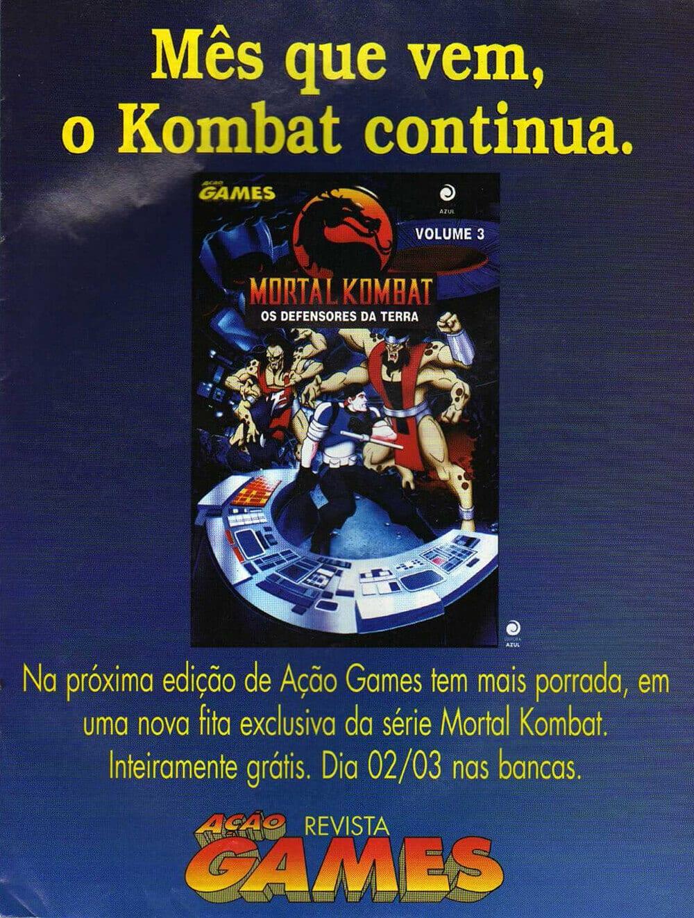 Propaganda Desenho Mortal Kombat VHS