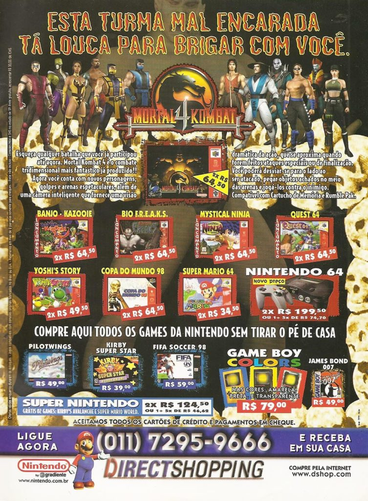 Propaganda Mortal Kombat Direct Shopping