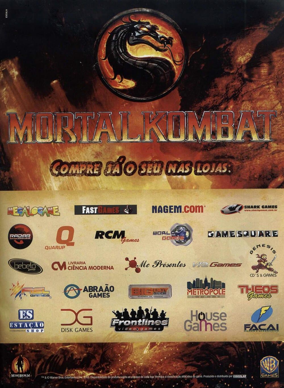 Propaganda antiga - Mortal Kombat 2011