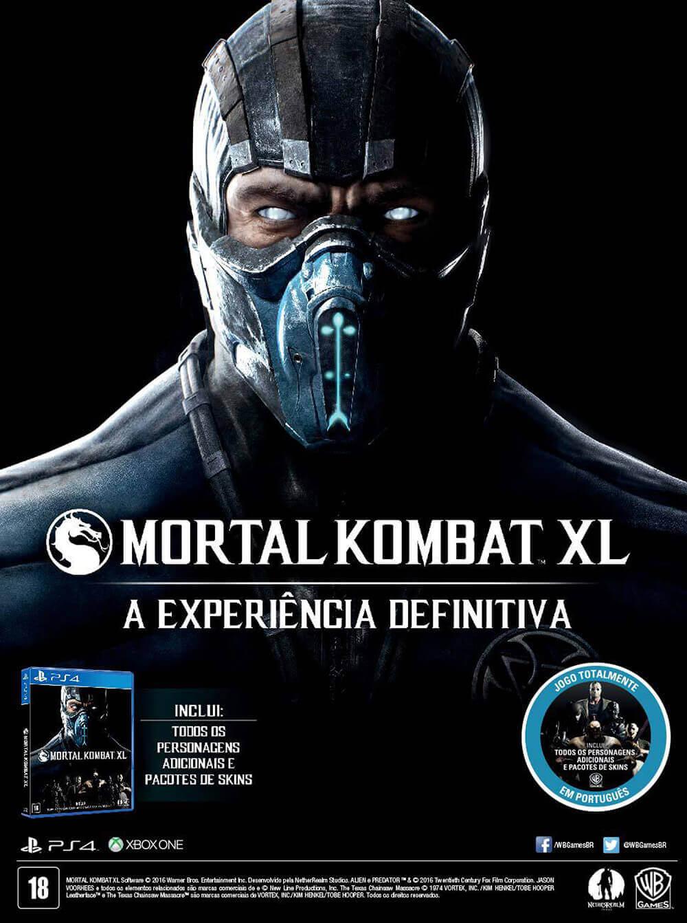 Propaganda Mortal Kombat XL 2016