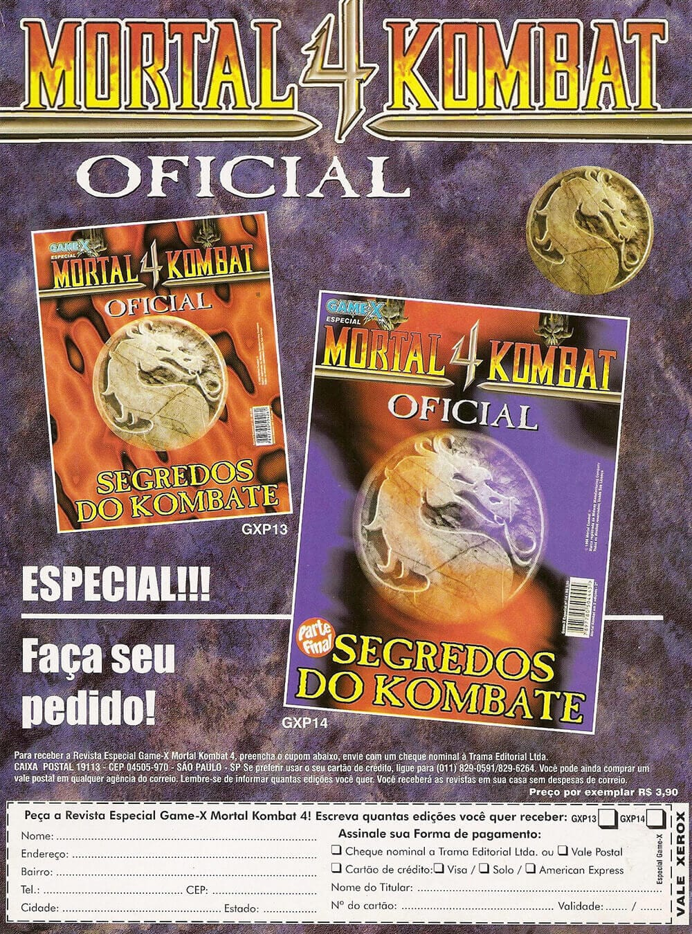 Propaganda Mortal Kombat 4 Oficial