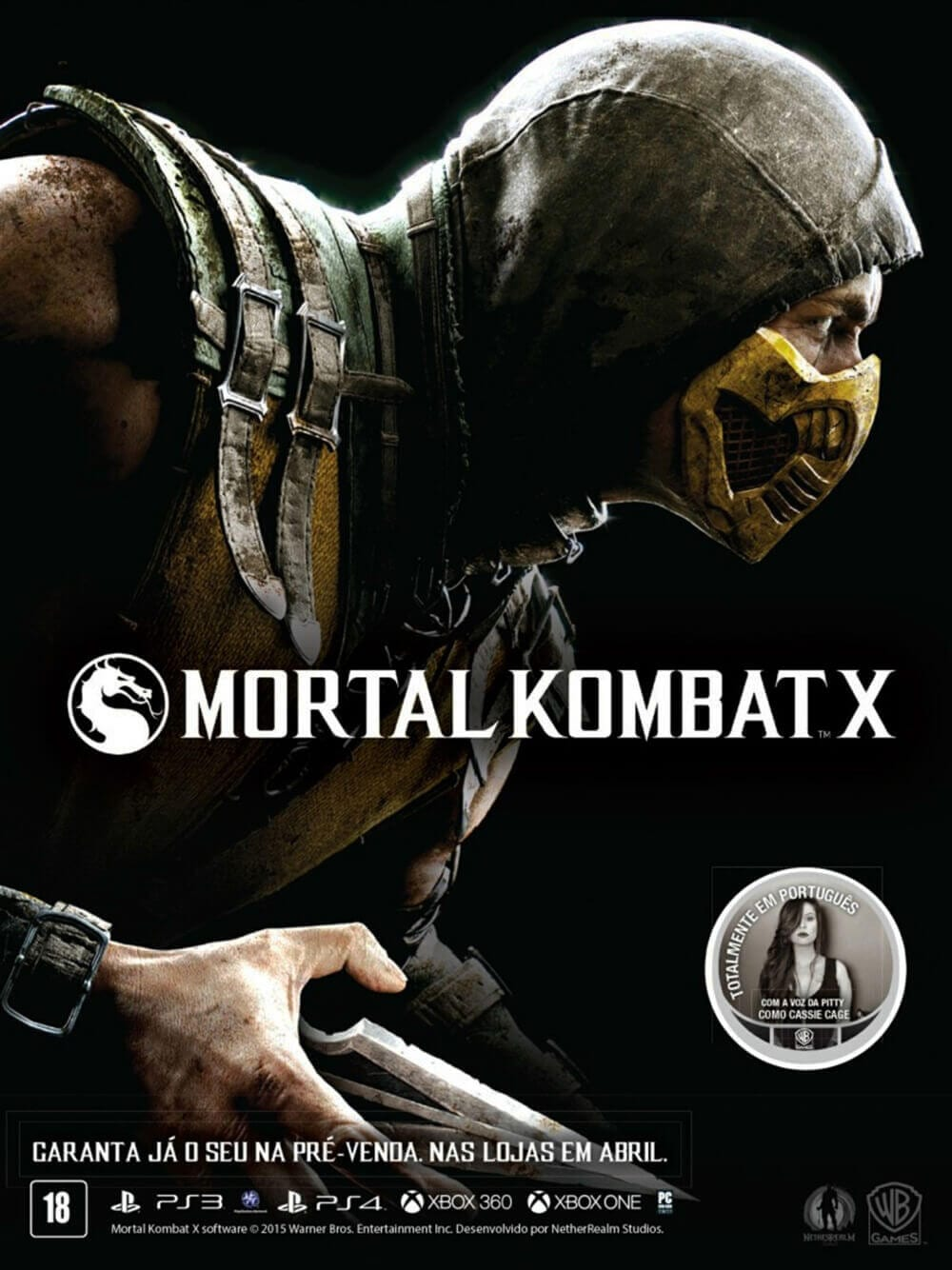Propaganda Mortal Kombat X com Pitty