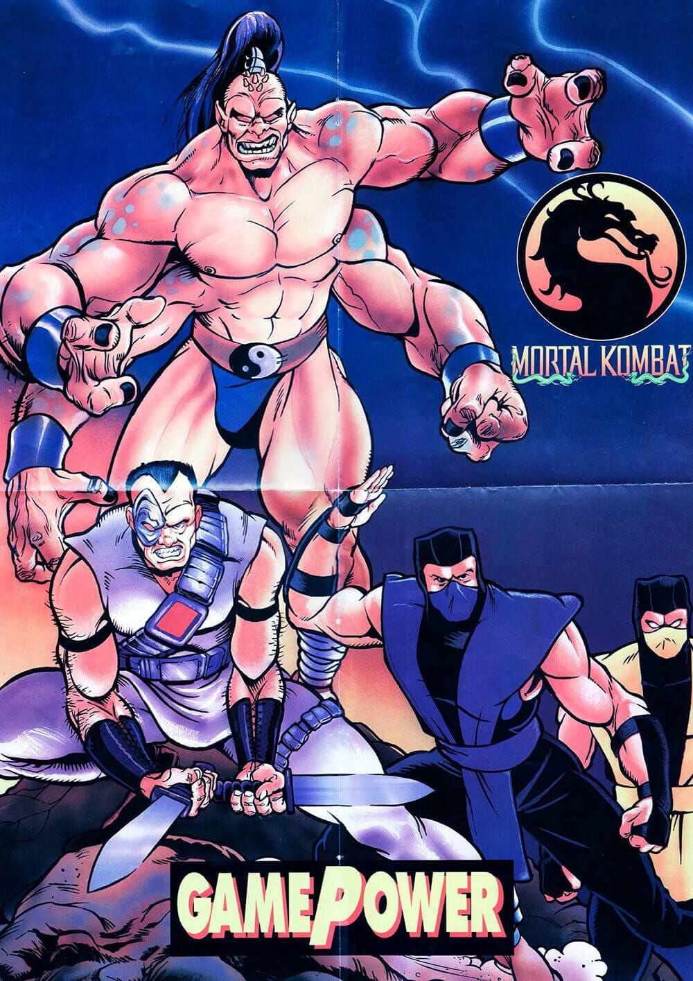 Pôster Mortal Kombat na GamePower 1993