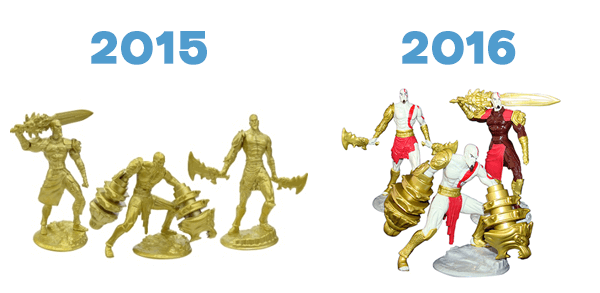 Páscoa God of War 2015 e 2015