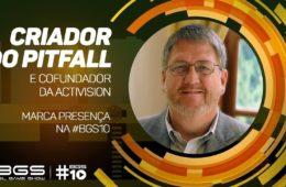Criador do Pitfall no Brasil Game Show (BGS)