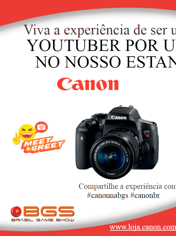 Propaganda Canon - Guia Oficial BGS 2017