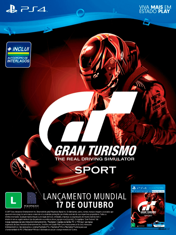 Propaganda Gran Turismo Sport - Guia BGS 10