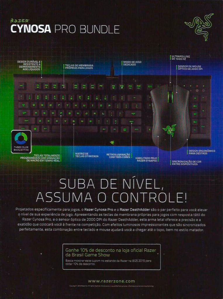 Razer - Guia Oficial Brasil Game Show 2015