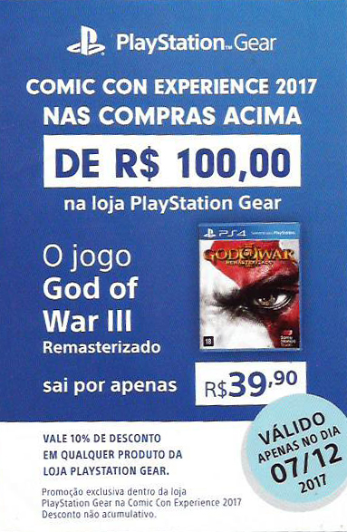 Flyer God of War (PlayStation) - CCXP 2017