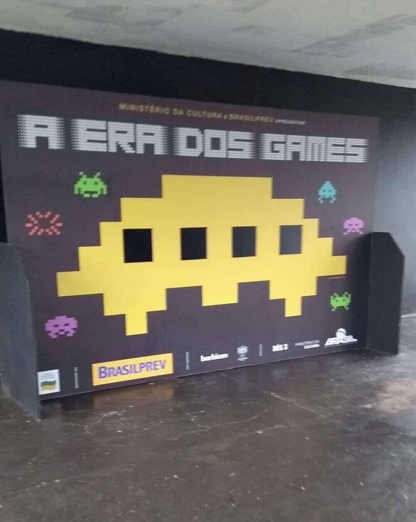 Entrada da exposição A Era dos Games