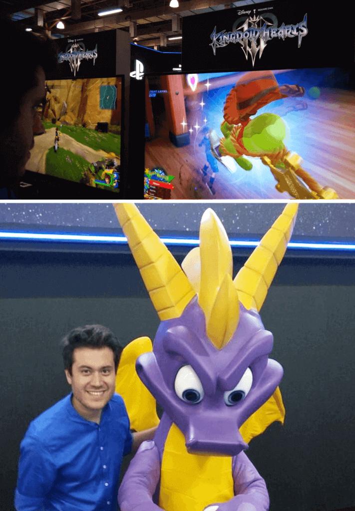 Kingdom Hearts 3 e Spyro na BGS 2018