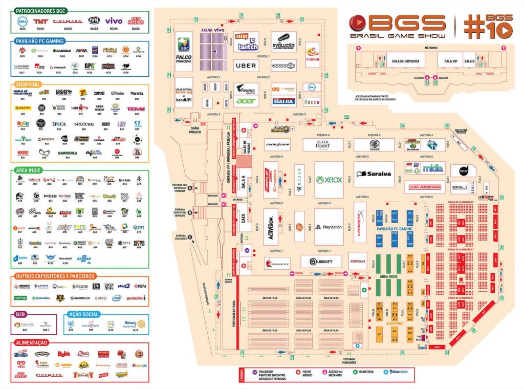 Mapa BGS 2017