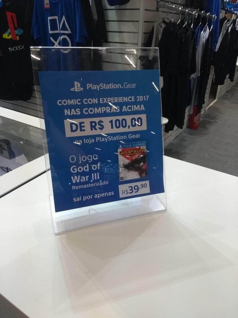 PlayStation (Promoção God of War III) - CCXP 2017