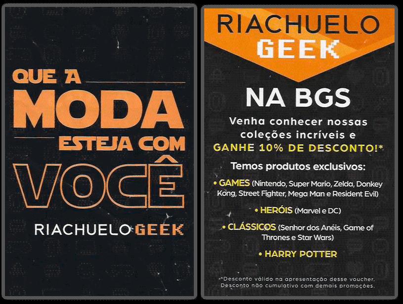 Flyer Riachuelo Geek