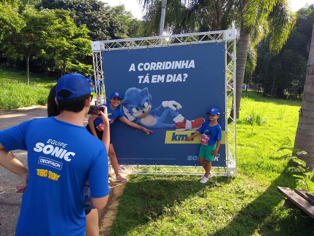 Banner Km 1 - Corrida Sonic 5K São Paulo