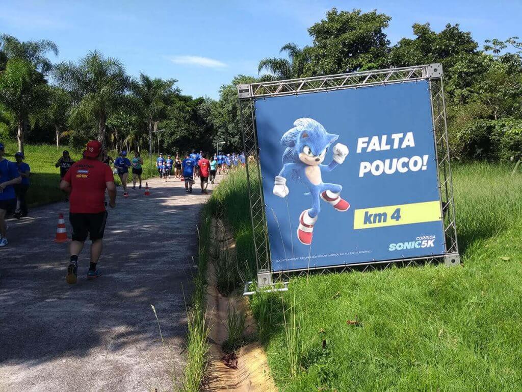 Banner Km 4 - Corrida Sonic 5K São Paulo