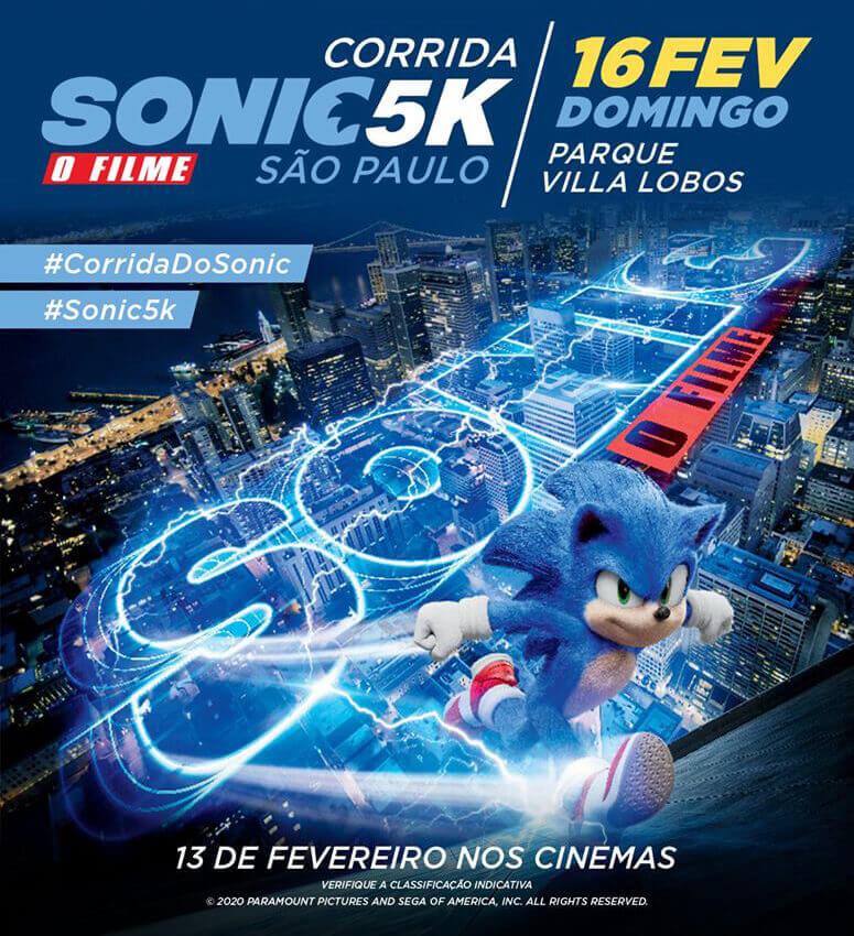 Divulgação da Corrida Sonic 5K em São Paulo