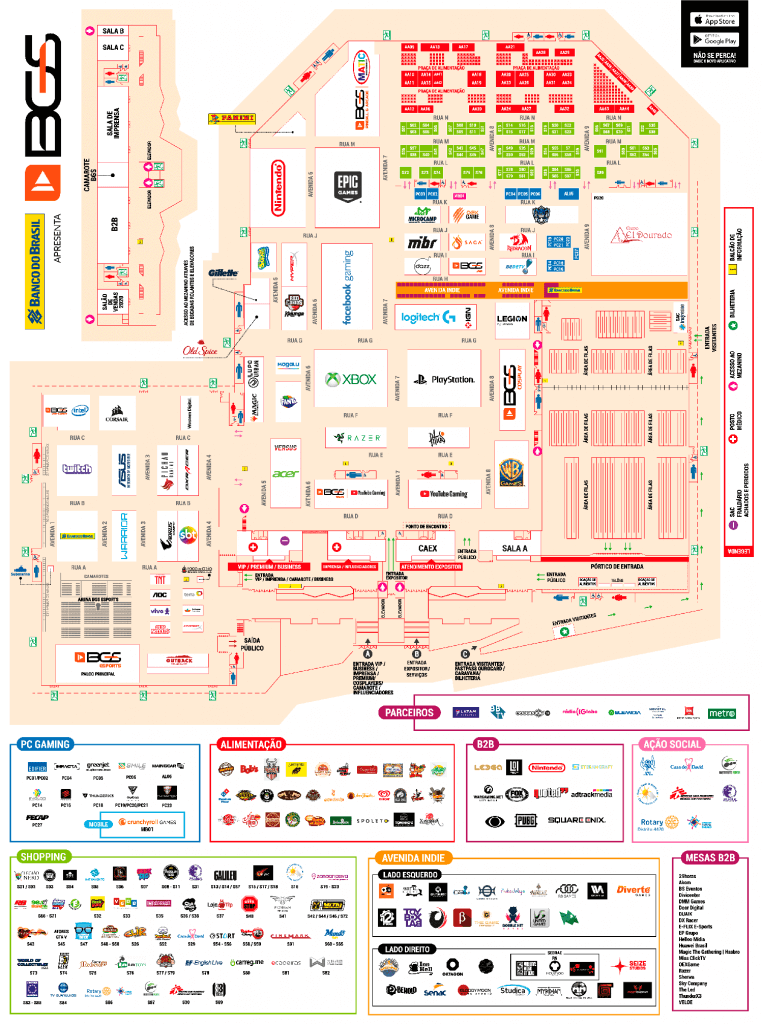 Mapa BGS 2019