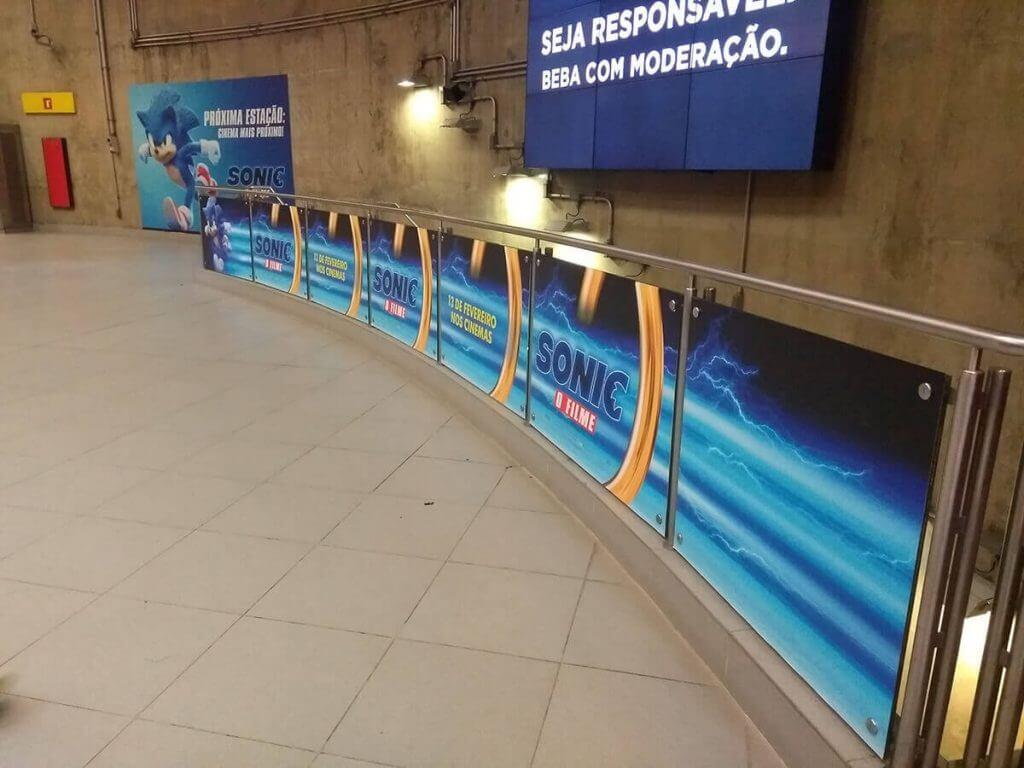 Sonic O Filme na Linha 4 Amarela do Metrô de São Paulo